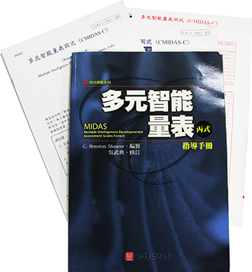 多元智能量表丙式(CMIDAS-C)(Chinese Version of Multiple Intelligence Developmental Assessment Scales Form-C)
